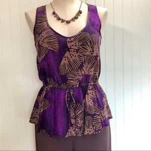 GLAM Made In USA Silk Sleeveless Top Sz. Sm